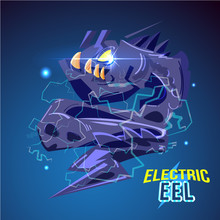 Angry Electric Eel Character D...