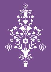 Weihnachtskarte - dekorativer Weihnachtsbaum