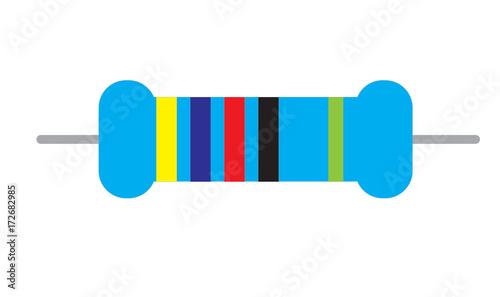 Photo resistor icon on white background. resistor sign. flat style.