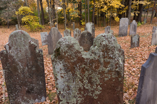 Photo  Tombstones Autumn Halloween