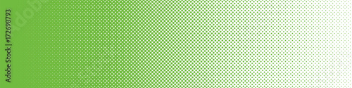 Seamless Screentone Graphics_Halftone Gradation_Green