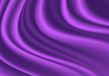 Abstract Purple Fabric Satin Wave Detail Luxury Background Texture Vector Illustration.