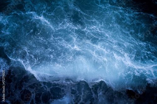 Spoed Fotobehang Onweer Sea cliffs