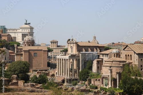 Zdjęcie XXL Archeologiczne pozostałości forów cesarskich. Rzym Włochy