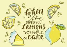 Cool Bright Print With Lemon. ...