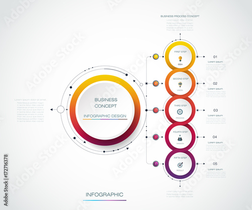 Vector Infographic Label Design With Icons And 5 Options Or Steps Infographics For Business Concept Can Be Used For Presentations Banner Workflow Layout Process Diagram Flow Chart Info Graph Buy This