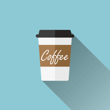 Disposable Coffee Cup Icon - F...