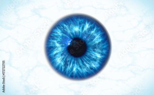 Cadres-photo bureau Iris Human iris isolated, 3d render