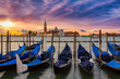 Sonnenaufgang über San Giorgio Maggiore in Venedig, Italien