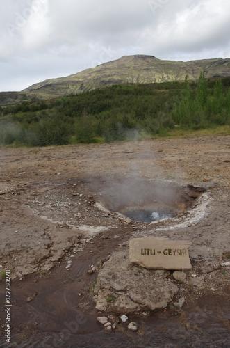 Papiers peints Cappuccino Sources d'eau chaude naturelle d'Islande