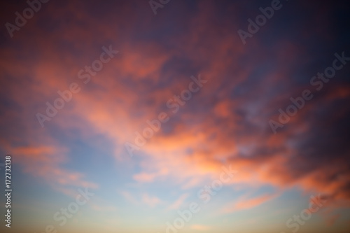 Fototapeta Sunset sky - deep blue and orange background obraz na płótnie