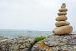 Cairn in Brittany south coast