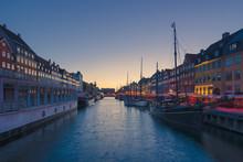 Copenhagen, Denmark - Nyhavn At Twilight