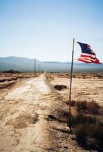 Dirt Road In The Mojave Desert, California