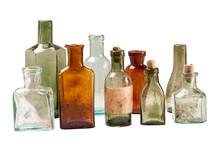 Set Of Vintage Glass Bottles I...