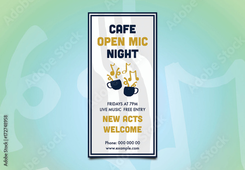 Café Open Mic Night Flyer Layout Buy This Stock Template And - Buy flyer templates