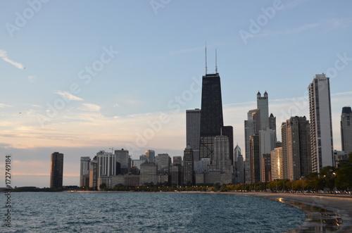 Fototapeta Chicago downtown od strony północnej