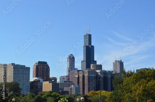 Obraz na dibondzie (fotoboard) Centrum Chicago od strony południowej