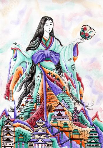 gejsza-w-kimonie-opiekun-duchow