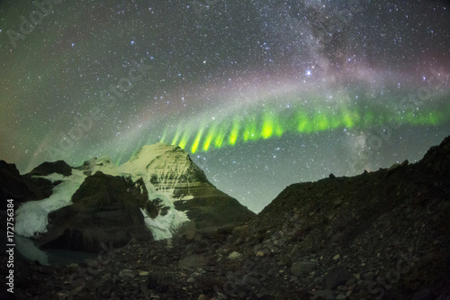 Fotografie, Obraz  steve northern lights mount robson