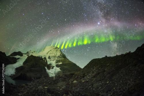 Fotografia, Obraz steve northern lights mount robson