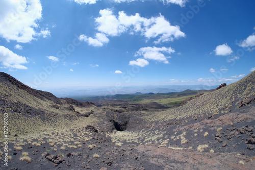 Obraz na plátně Etna Park Slope Of Lava Channel, Sicily
