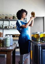 Herbalist In Her Workshop
