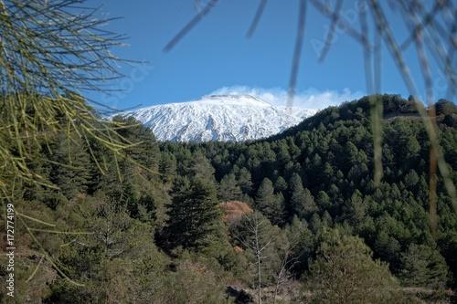 Fotografie, Obraz Snowy Top Of Volcano Etna, Sicily