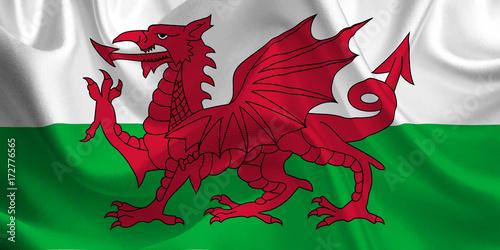 Fotografie, Obraz Waving flag of the Wales