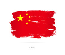 Flag Of China. Abstract Concept