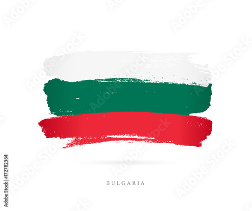Flag of Bulgaria. Brush strokes Wall mural