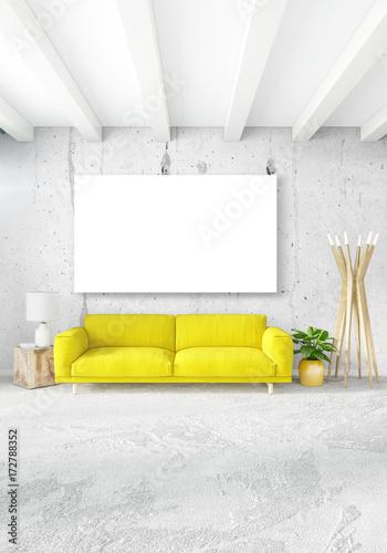 Modern bedroom yellow sofa luxury minimal style Interior ...