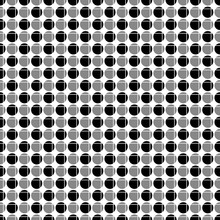 Abstract Seamless Pattern From Alternate Circles, Intersected By Grid Of Lines. Simple Black White Geometric Texture For Fabric Or Clothing. Vector