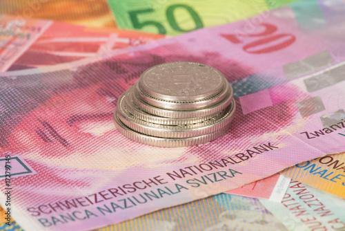 Schweizer Franken Münzen Und Banknoten Acheter Cette Photo Libre