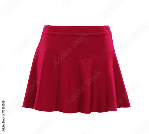 Red color skirt isolated on white background Wall mural