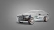 car diagnostic concept studio view 3d render image in grey