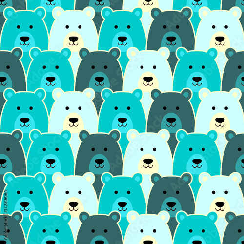 Poster Artificiel Seamless pattern with polar bear