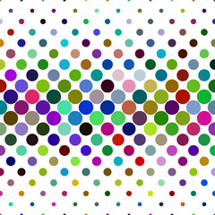 Fototapeta Circle pattern background - abstract geometric vector illustration from dots in colorful tones