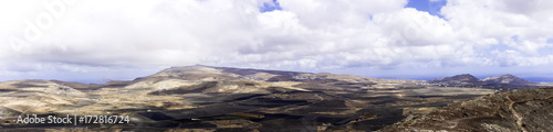 Foto op Aluminium Aubergine Teguise - a view from volcano / Lanzarote / Canary Islands