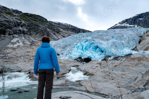 Printed kitchen splashbacks Glaciers Nigardsbreen glacier in Jostedalen valley, Jostedalsbreen national park, Sogn og Fjordane, Norway