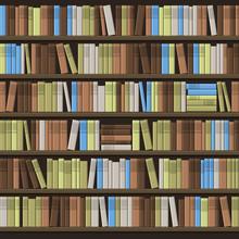 Library Book Shelf Seamless Ba...