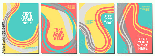set of 4 sweet abstract graphics for background or covers design in