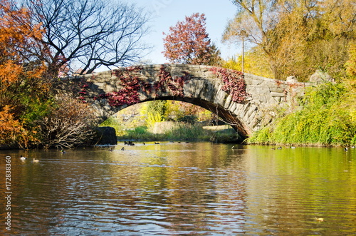 In de dag China Central Park autumn scene by the lake