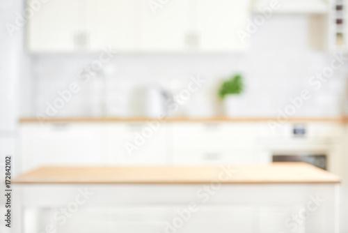 Cadres-photo bureau Cuisine Defocused kitchen interior background