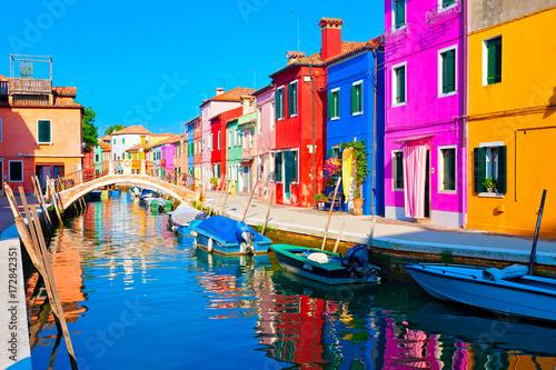 Fotografie, Obraz Burano bei Venedig, Italien