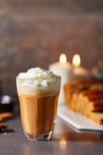 Delightful Glass Of Pumpkin Spice Latte