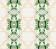 Green Geometrical Drawing Made By Glasses Inside Kaleidoscope
