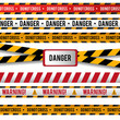 Vector set of Danger and Police Lines for restriction and dangerous zones on white background.. Vector Illustration