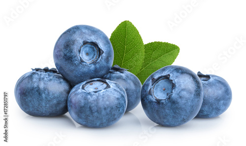 Poster Fruits blueberry isolated on white background