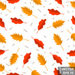 Seamless pattern. Autumn leaves. Yellow. For your design.